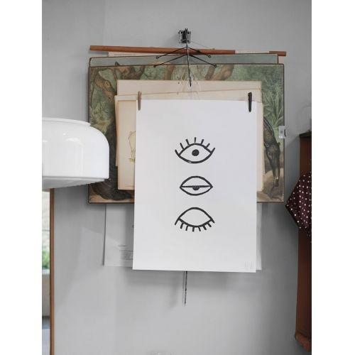 Autorský plakát Eye Eye Black 50x70cm