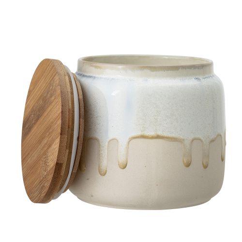 Keramická dóza Beige/Bamboo 16 cm