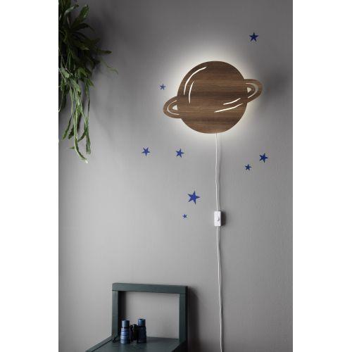 Dětská nástěnná lampa Planet Dusty blue