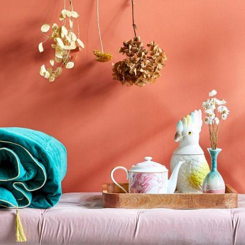 Porcelánová konvice Marble Print Pink 1280 ml