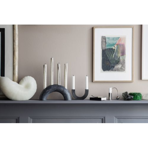 Designový mosazný svícen na dvě svíčky Arch Black