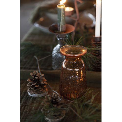 Skleněná váza Pebbled Glass Amber