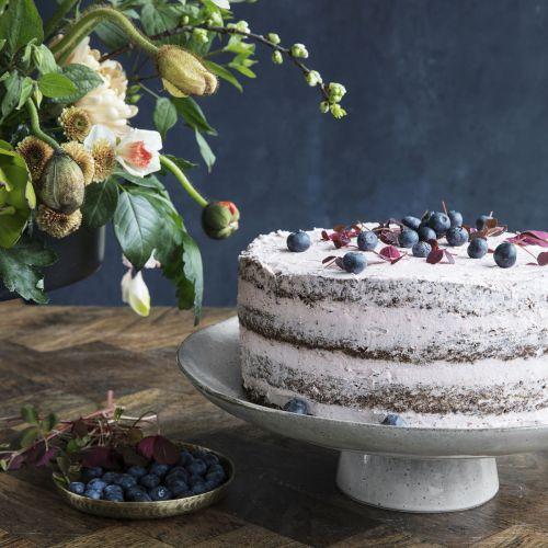 Keramický dortový stojan Rustic Grey