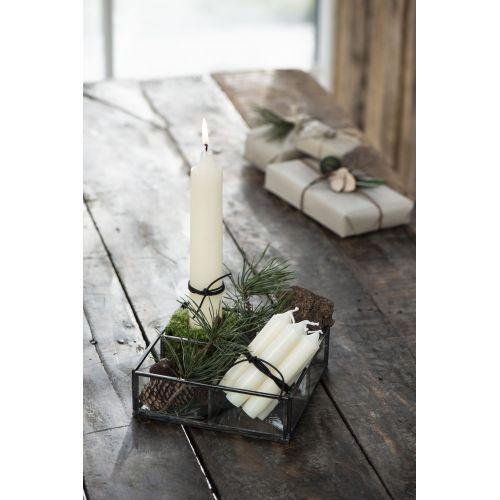 Vysoká svíčka Rustic Cream 25 cm