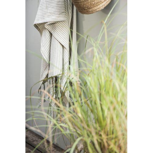 Bavlněná osuška Hammam Green Stripes
