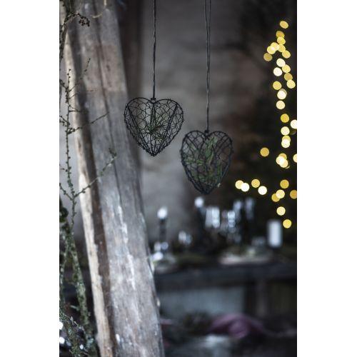 Dekorativní drátěné srdíčko k zavěšení Wire