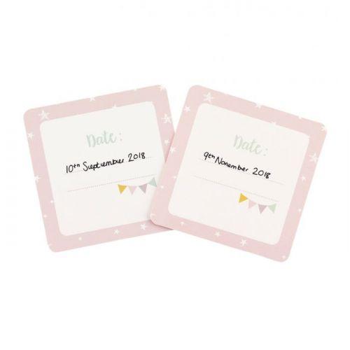 Kartičky s milníky miminka Pink - 24 ks