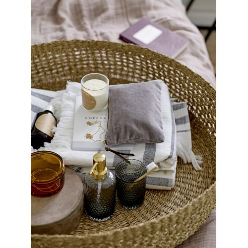 Skleněný zásobník na mýdlo Grey/gold