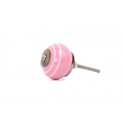 Porcelánová úchytka Pink/white
