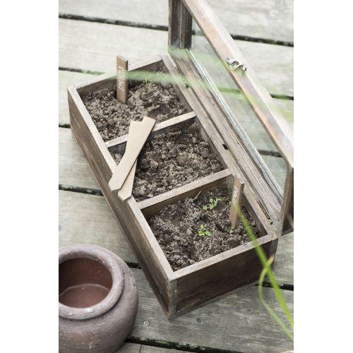 Dřevěné zápichy na bylinky - set 4ks