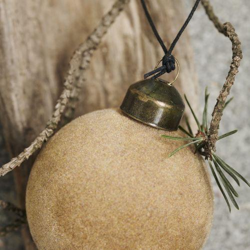 Vánoční ozdoba Flock Light Brown Ø 5,5 cm