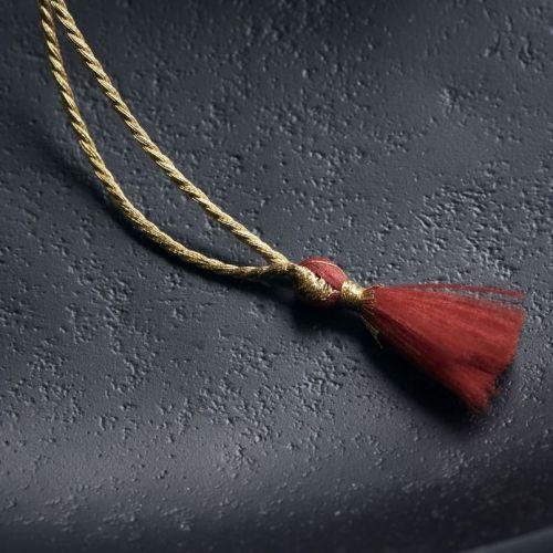 Vánoční baňka Mache Red 5 cm