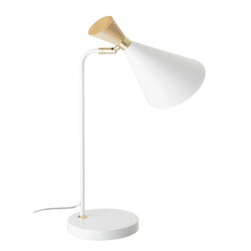 Kovová stolní lampa Elegant Gold Wood