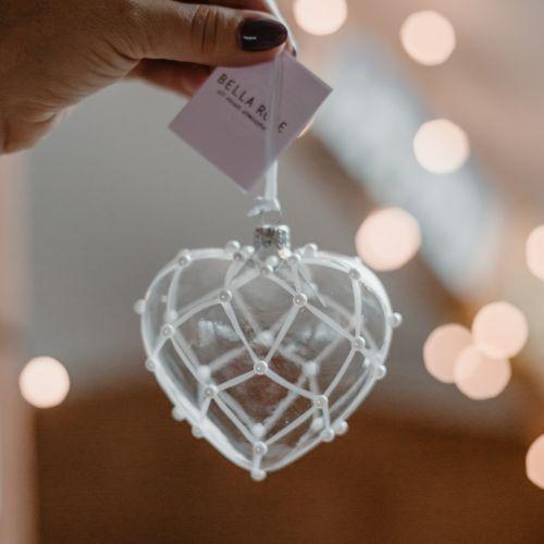 Vánoční ozdoba Crystal Clear Perls & Matt 16 cm
