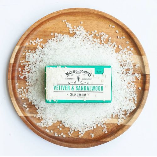 Luxusní pánské mýdlo Vetiver a santalové dřevo 220g