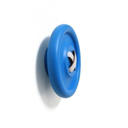 Dřevěný věšák Button Blue 18 cm