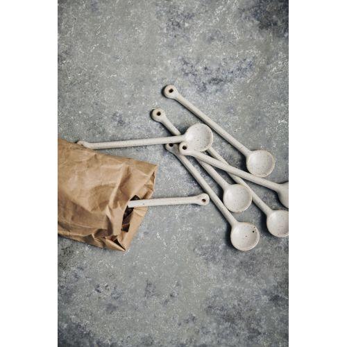 Porcelánová lžička Pion Grey/White