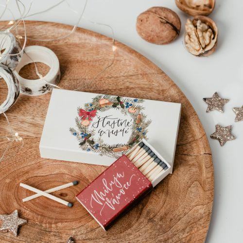 Zápalky Miluju Vánoce