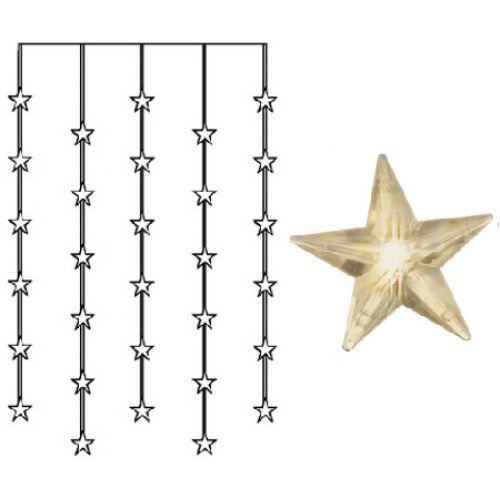 Světelný řetěz s hvězdičkami Star Curtain 90 × 120 cm