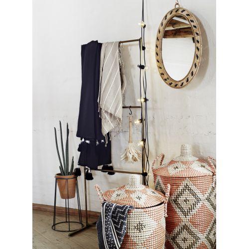 Oválné zrcadlo v bambusovém rámu Cane