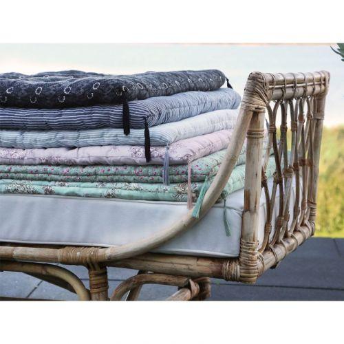 Bavlněná matrace/sedák Grey Stripes 70 X 180 cm