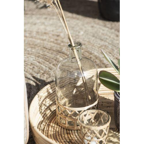 Skleněná váza Bamboo Braid