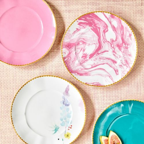 Porcelánový talíř Marble Bubblegum Pink ⌀ 23 cm