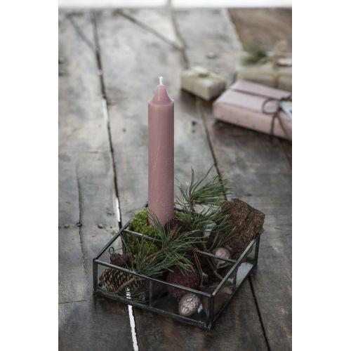 Vysoká svíčka Rustic Malva 25 cm