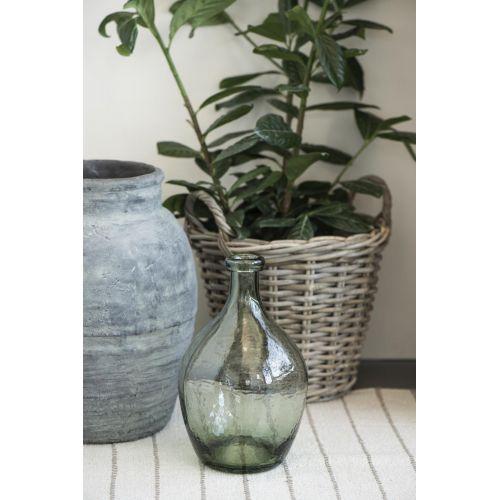 Skleněná váza Balloon Green 28 cm