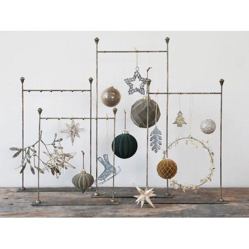 Velurová vánoční ozdoba Ball Moss 11 cm