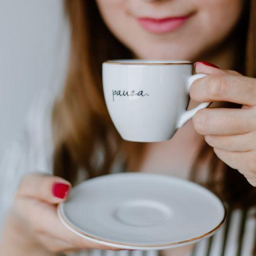 Šálek na espresso s podšálkem Pauza