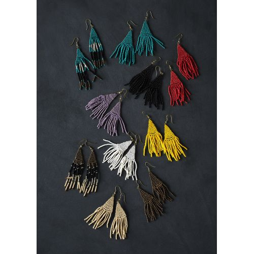 Korálkové náušnice Beaded Earrings