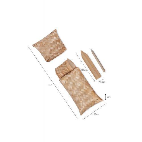 Zápichy na bylinky s pouzdrem Bamboo - set 18 ks