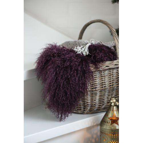 Tibetská jehněčí kožešina Bordeaux Fur