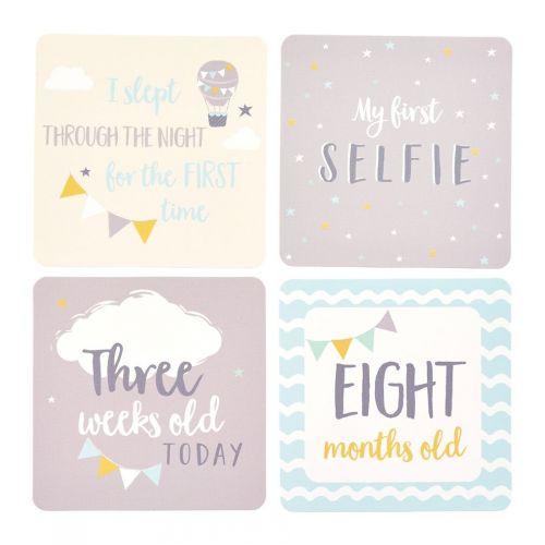 Kartičky s milníky miminka Blue - 24 ks
