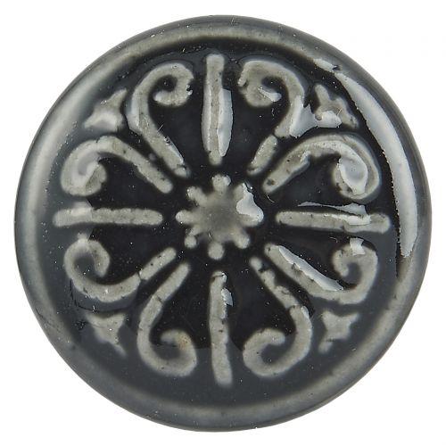 Porcelánová úchytka Dark grey