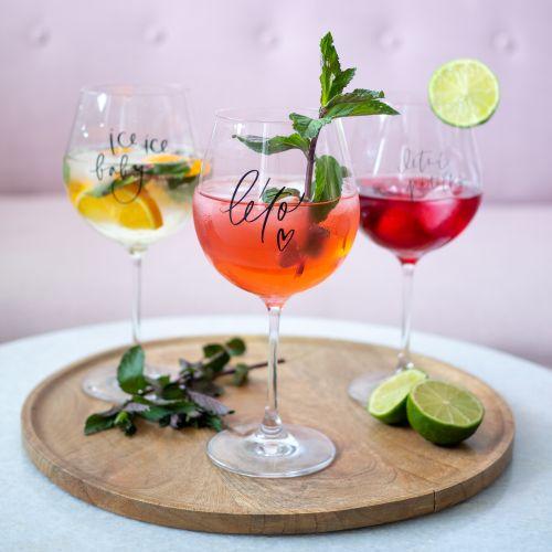 Sklenice na drink Léto ♥