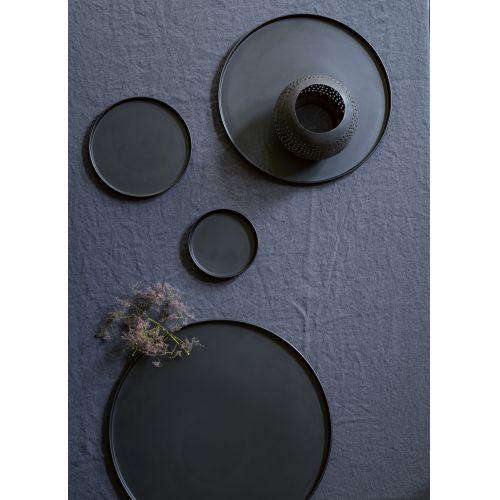 Kovový podnos Iron Black 20cm