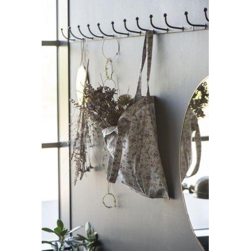 Bavlněná taška Grey Flowers