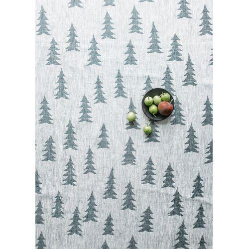 Lněný ubrus Gran Dark green 147x350 cm