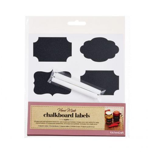 Sada černých štítků na zavařeniny - 12 ks