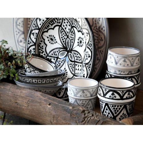 Keramický marocký šálek Marrakech Black 200 ml