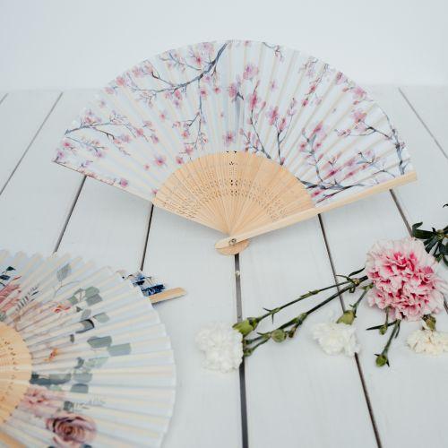Trendy látkový vějíř Sakura