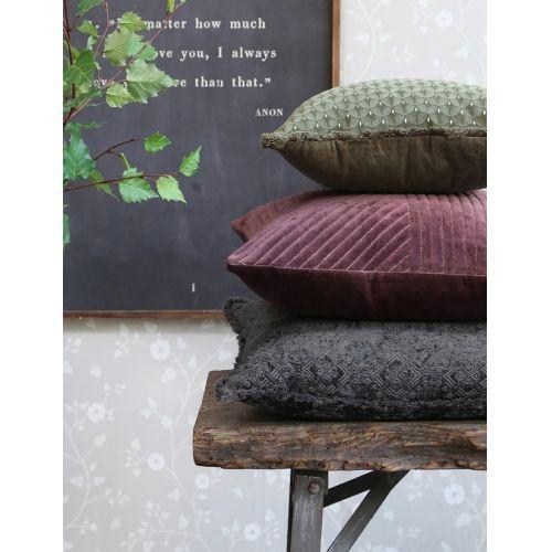 Bavlněný polštář Moulin 50x50 cm Aubergine
