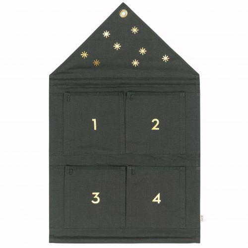 Adventní kalendář House Dark green