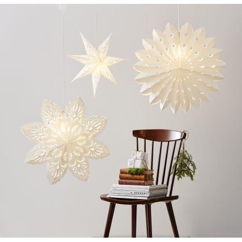 Závěsná svítící hvězda Lace White 44 cm