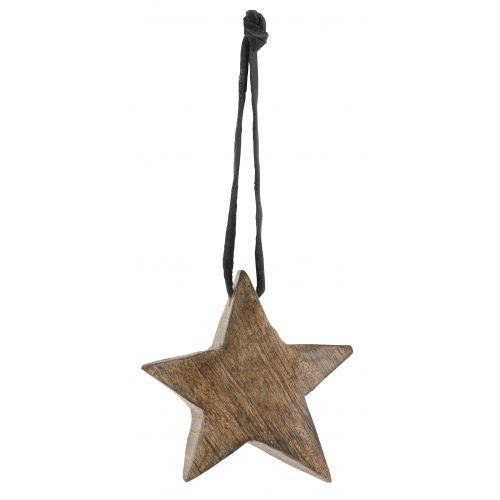 Dřevěná hvězdička Natural