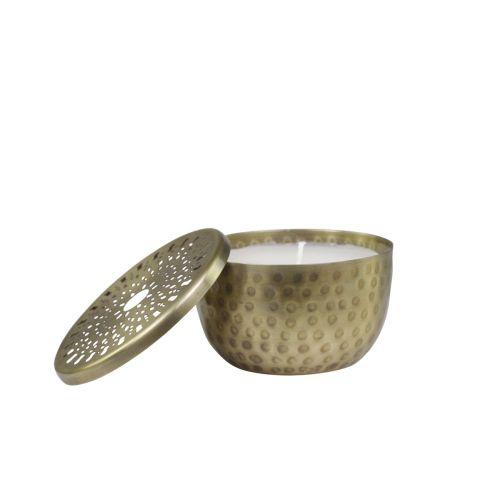 Svícen se svíčkou Antique Brass