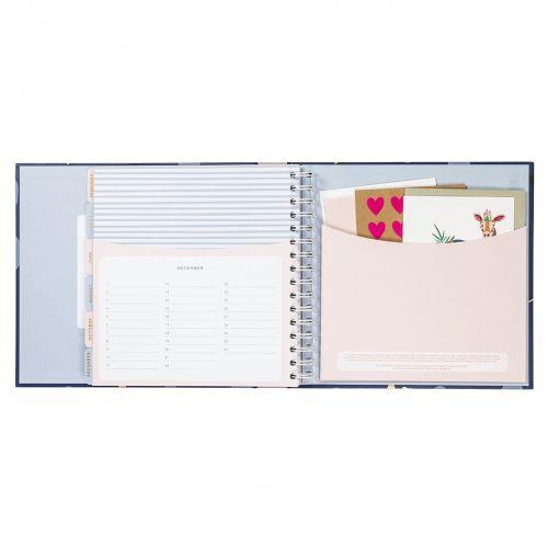 Plánovač narozenin a výročí Card Book Navy