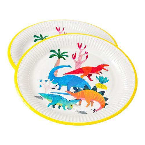 Dětské papírové nádobí Dinosaur Plates 8 ks